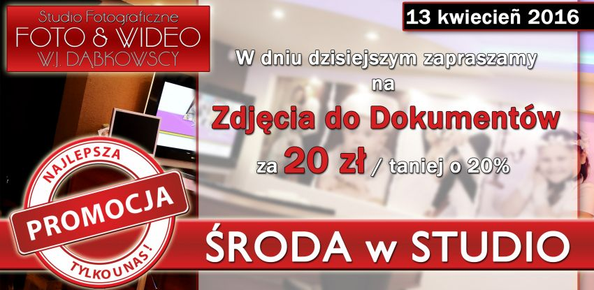ŚRODA w STUDIO 13-04-2016
